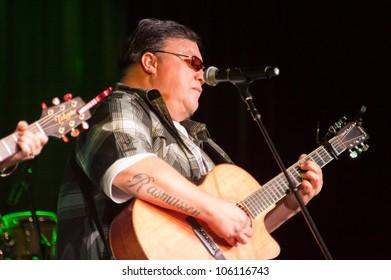 LINCOLN, CA - JUNE 16: Robi Kahakalau with Jeff Rasmussen performs at Thunder Valley Casino Resort in Lincoln, California on June 16, 2012