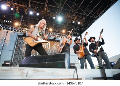 LINCOLN, CA - June 22: Lynyrd Skynyrd performs at Thunder Valley Casino and Resort in Lincoln, California on June 22, 2013