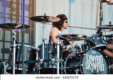 LINCOLN, CA - June 22: Michael Cartellone with Lynyrd Skynyrd performs at Thunder Valley Casino and Resort in Lincoln, California on June 22, 2013