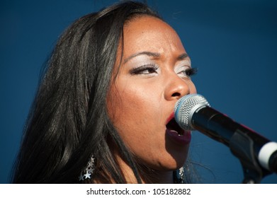 LINCOLN, CA - JUNE 8: Wyann Vaughn with The Emotions performs at Thunder Valley Casino Resort in Lincoln, California on June 8, 2012