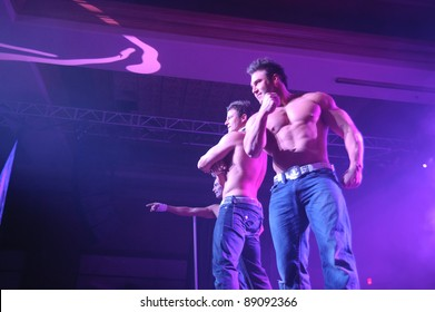 LINCOLN, CA - NOVEMBER 16: The Chippendales perform at Thunder Valley Casino and Resort in Lincoln, California on November 16, 2011