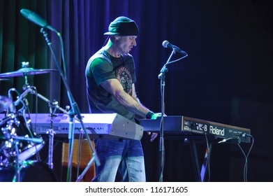 LINCOLN, CA - OCT 19: Dave Robbins of Country rock band The Outlaws perform at Thunder Valley Casino Resort in Lincoln, California on October 19th, 2012