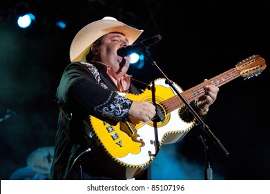 LINCOLN, CA - September 17th: Mario Marichalar with Bravos del Norte performs at Thunder Valley Casino and Resort in Lincoln, California on September 17th, 2011