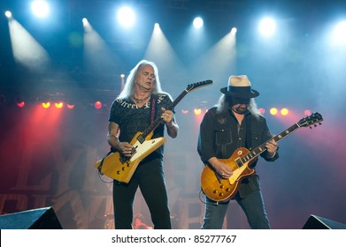 LINCOLN, CA - September 22nd: Rickey Medlocke and Gary Rossington with Lynyrd Skynyrd performs at Thunder Valley Casino and Resort in Lincoln, California on September 22nd, 2011