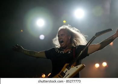 LINCOLN, CA - September 22nd: Rickey Medlocke with Lynyrd Skynyrd performs at Thunder Valley Casino and Resort in Lincoln, California on September 22nd, 2011
