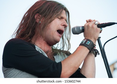 LINCOLN, CA - September 5: Jay Buchanan of Rival Sons performs in support of Sammy Hagar's 'Forty Decades of Rock' tour at Thunder Valley Casino Resort in Lincoln, California on September 5, 2013
