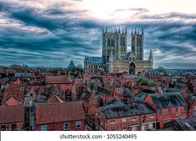 Lincoln Cathedral. Taken on 31/12/2017 in Lincolnshire UK