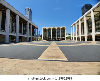 Lincoln center, NYC on a beautiful day.