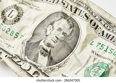 Lincoln. Five dollars close up