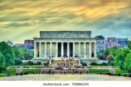 The Lincoln Memorial, an American national monument in Washington, D.C. United States