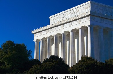 Lincoln Memorial with clear blue sky, Washington D.C., USA