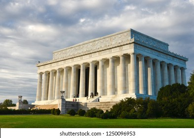 Lincoln Memorial in a cloudy day - Washington DC United States of America