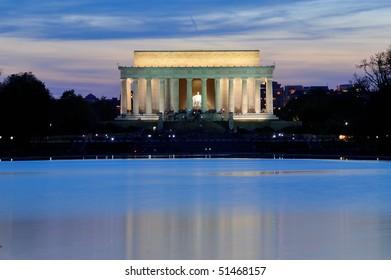 Lincoln Memorial at dusk, Washington, DC