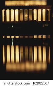 Lincoln Memorial illuminated at night