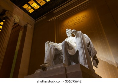 Lincoln Memorial illuminated at night in Washington DC