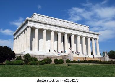 Lincoln Memorial Midday, Washington Mall, Washington, DC