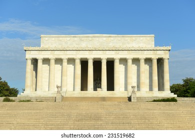 Lincoln Memorial in the morning in Washington DC, USA