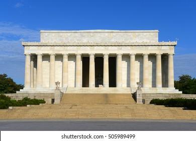 Lincoln Memorial in the morning in Washington DC, USA.