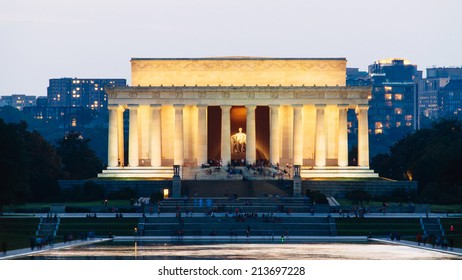 Lincoln Memorial at night, Washington DC, United States