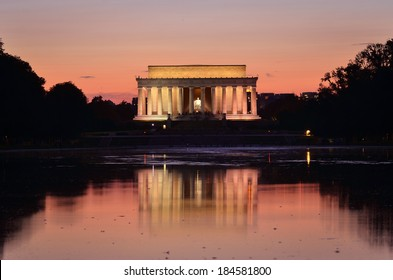 Lincoln Memorial and reflection the pool at night - Washington DC, United States