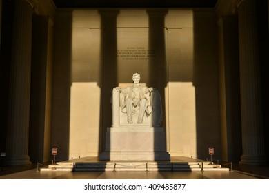 Lincoln Memorial in shadows - Washington DC, United States