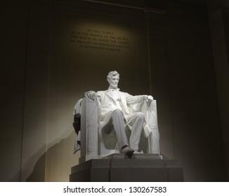 Lincoln memorial statue, USA, Washington, DC