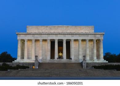 Lincoln Memorial at sunrise - Washington DC, United States of America