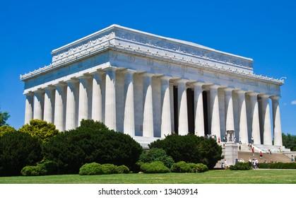 The Lincoln memorial in Washington DC.