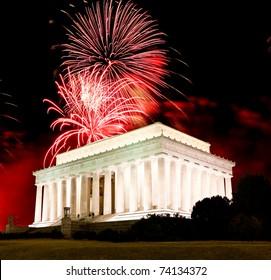 The Lincoln memorial in Washington DC USA