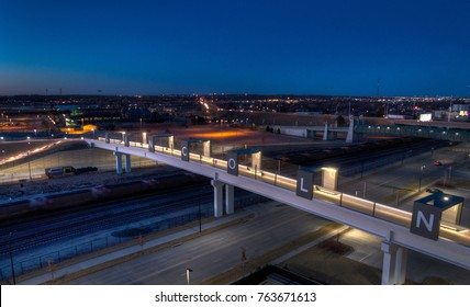 Lincoln Nebraska, Haymarket pedestrian bridge