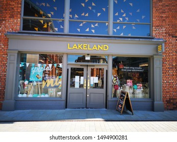 LINCOLN, UNITED KINGDOM, 26th August, 2019: The shop front of a branch of the Lakeland store
