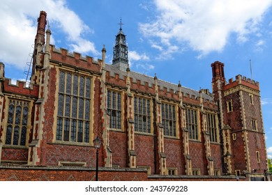 Lincoln's Inn Court in London, UK. Honourable Society of Lincoln's Inn is one of four Inns of Court in London, to which barristers of England and Wales belong & where they are called to Bar.