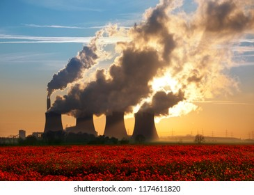Lincolnshire. United Kingdom. 07.08.13. Cooling towers of a coal-fired power plant in Lincolnshire in the United Kingdom.