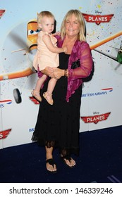 """Linda Robson arrives for the """"Disney Planes"""" premiere at the Odeon Leicester Square, London. 14/07/2013"""