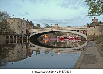 Lindal Bridge over the River Ouse in York, England
