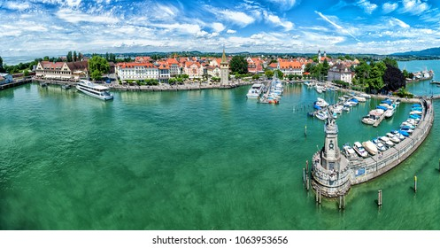 Lindau panorama in Bavaria, view from the tower