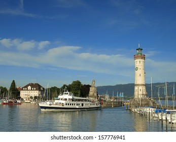 Lindau port in Germany at Bodensee