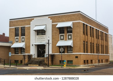 Linden, Texas, United States of America - January 14, 2017. Cass County office building, dating from 1938, in Linden, TX.