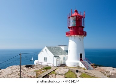 Lindesnes lighthouse in Norway, most southern destination of this European country