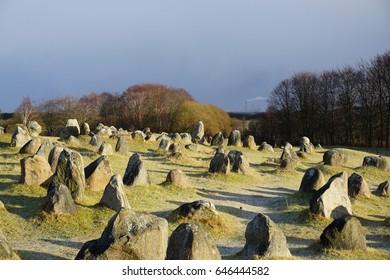 Lindholm Hills in Aalborg, Denmark (Viking burial site)