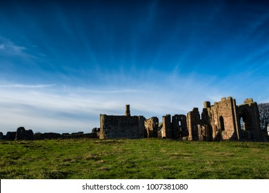 Lindisfarne priory on Holy Island in Northumberland