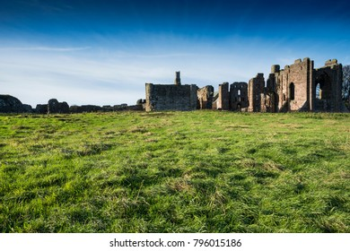 Lindisfarne priory on Holy Island off the Northumberland coast