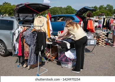 WELCOME FLAG 5/' x 3/' Shop Fair Sale Open Retail Market Stall Car Boot Garage