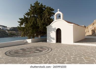 Lindos, Rhodes island st Paul's chapel