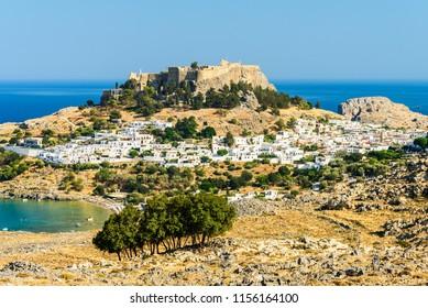 Lindos temple, Rhodes island, Greece