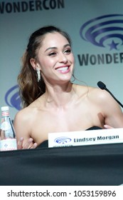 Lindsey Morgan attends day one of the 32nd Annual WonderCon Convention in Anaheim, CA on March 23, 2018.
