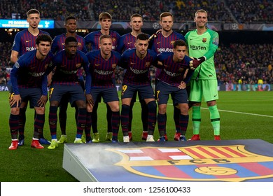 Line up Barcelona during the match between FC Barcelona and Tottenham Hotspurs at Camp Nou Stadium in Barcelona, Spain on December 11, 2018.