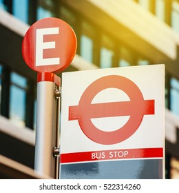 Line Bus Stop in London, capital of United Kingdom