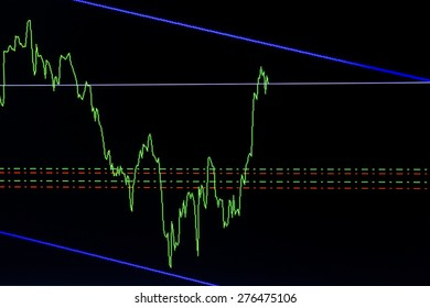 line chart forex stock graph on screen