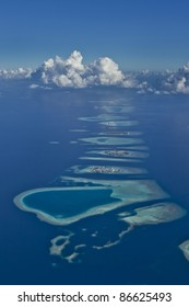A Line Of Coral Reefs and Lagoons
